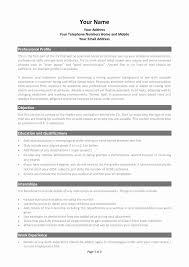 Professional Resume Templates Word Free Fresh Simple Free Resume