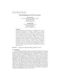 pdf beyond budgeting the way forward
