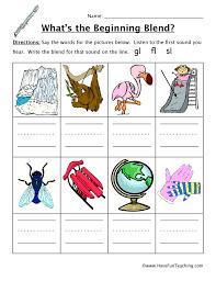 Beginning Sounds Worksheet - GL, FL, SL | Have Fun Teaching