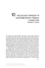 holocaust imagery in contemporary french literature springer perspectives on the holocaust perspectives on the holocaust