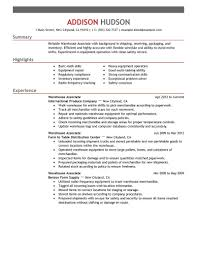 Resume For Packaging Job Best Warehouse Associate Resume Example LiveCareer 39