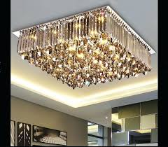 flush chandelier new arrival led crystal ceiling lamp modern square and round crystal chandelier flush mount flush chandelier silver and crystal ceiling