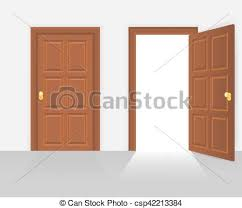 house front door open. Open And Closed House Front Door Vector Illustration House Front Door Open O