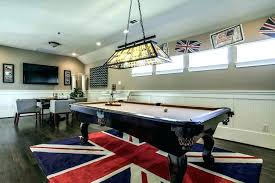 pool table rugs size game room rug family traditional with wall mounted ceiling light clerestory windows