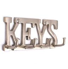 office key holder. KRIWIN Stainless Steel Finish KEYS Key Holder 11 Cms X 4 ( Silver )with Office L