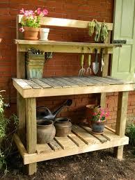 pallet garden benches outdoor potting