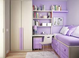 ... Cheerful Design Ideas For Teenage Girl Bedroom Decor : Excellent Purple  Sheet Trundle Bed With Drawers ...