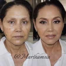 when it es to makeup i personally believe a flawless base is the most important step marthamua used graftobian makeup s warm palette to conceal her