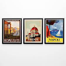 set of 3 italian travel posters italian vintage posters italian wall art vintage style posters italy poster italy print rome poster napoli on italian wall art prints with set of 3 italian travel posters italian vintage posters italian wall
