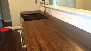 stylish butcher block countertops pt 2 hardwood floor refinishing butcher block charlotte nc