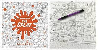 the splat coloring the 90s nickelodeon coloring book