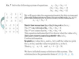 ex 7 solve the following system of equations x1 2x2 3x3