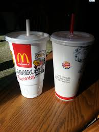 mcdonalds supersize drink. Plain Drink Burger Kingu0027s Medium Cup Next To McDonaldu0027s Large Inside Mcdonalds Supersize Drink