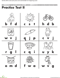 Free downloadable and printable worksheets! Beginning Letter Sounds Worksheet Education Com Free Kindergarten Worksheets Preschool Worksheets Letter Worksheets Kindergarten