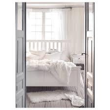 HEMNES Bed frame - King, Luröy, white stain - IKEA