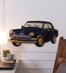 blue metal wall fixing blue car wall hanging by v decor