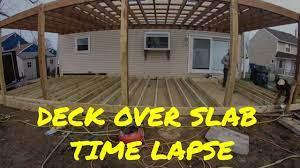 building a deck over a concrete slab