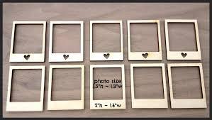12 pieces laser cut wood embellishments mini photo frames