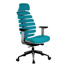 <b>Кресло RIVA CHAIR RCH</b> Shark Серый пластик/Лазурная ткань ...