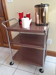 Vintage Metal Kitchen Cart Cosco Vintage Bar Cart With Electrical Outlet Vintage Bar Cart