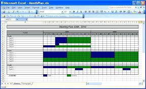 Monthly Schedule Excel Template Monthly Task Calendar Template