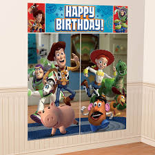 disney toy story wall poster decoration kit scene setter birthday party supplies 1 of 1only 3 available