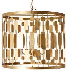 worlds away leona drum pendant gold leaf