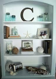 Coastal Styled Bookshelves (Decor Challenge) - #coastaldecor #styling  artsychicksrule