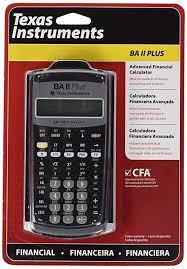 Financial Calculator Texas Instruments Advanced Financial Calculator Ba Ii Plus