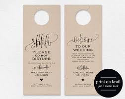 wedding door hanger template. Do Not Disturb Door Hanger Template Wedding Please E