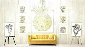 white and gold wall art framed chandelier wonderful
