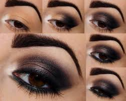 ridiculously y black brown smokey eye makeup