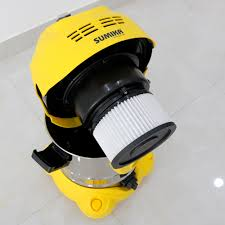 Máy hút bụi công nghiệp dạng nhỏ Sumika K20, Màu Vàng, 20L, 1600W, Có thể  hút nước, Motor Ametek của Mỹ, Tầng lọc HEPA, Dây điện dài 10m, Thùng chứa  Thép không