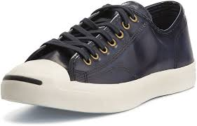 converse jack purcell leather sneakers blue