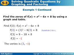 algebra 2 solving quadratic equations by factoring worksheet