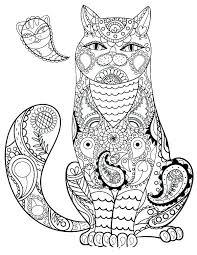 Cute Cats Coloring Pages To Print Cat Pictures To Color Cute Cat