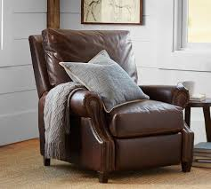 pottery barn recliner. Brilliant Pottery James Leather Recliner With Pottery Barn