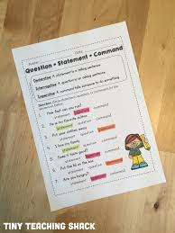 statement, question, command, and exclamation worksheets and ...