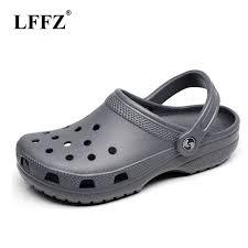 <b>lffz</b> 2019 Men Sandals Summer Slippers Shoes <b>fashion</b> crocse ...