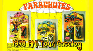 today s feature catalog is the 1978 azrak hamway rack toy catalog full of parachuting superheroes ing phasers hulk vans e robots