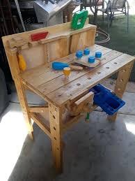 childrens wooden workbench plans
