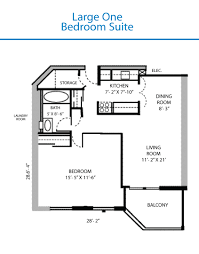 Bedroom House Floor Plans - Rental apartment one bedroom apartment open floor plans