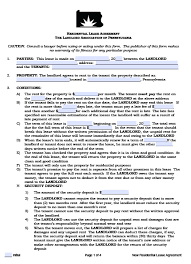 Rental Lease Agreements Free Pennsylvania Residential Lease Agreement PDF Word Doc 13