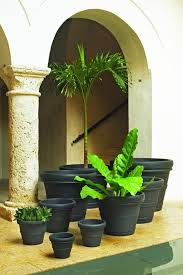 crescent garden planters. Brunello Planters, Crescent Garden, Caviar Black Color Garden Planters