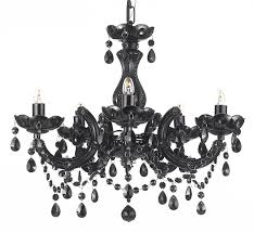 impressive black crystal chandeliers 13 j10 mt 5p blk 7002 6