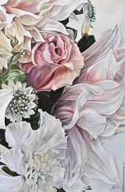 oil painting dahlia 80h90 cm ivlieva irina art my livemaster