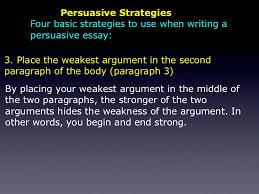 the persuasive essay persuasive strategies