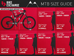 Bicycle Frame Size Chart The Ultimate Guide To Buying A Mountain Bike Mountain Bike