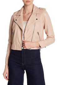image of lucky brand core leather moto jacket