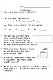 Kindergarten Free Printable Math Word Problem Worksheets Image ...